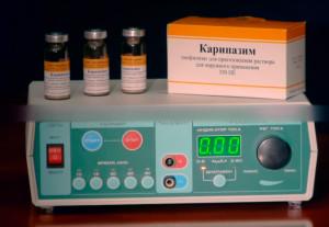 электрофорез с карипазимом